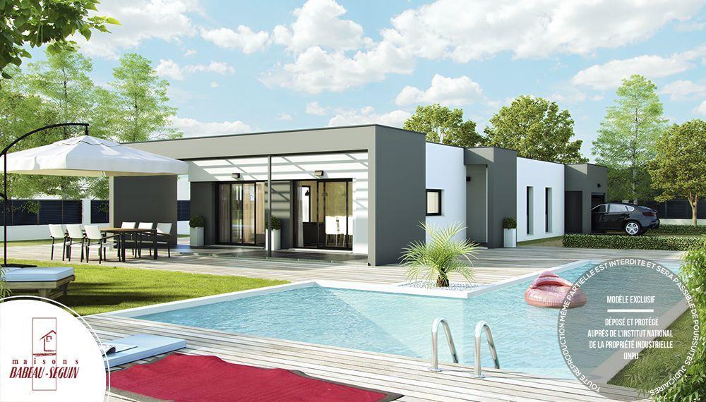 Linea maison contemporaine et moderne avec pergola