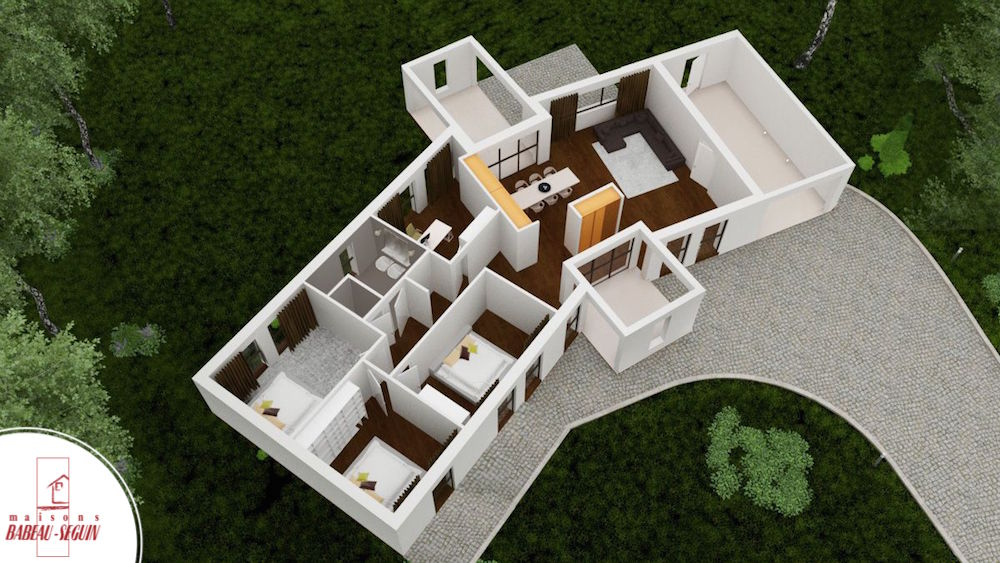 versium plan maison 3D interieur