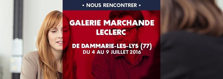 Retrouvez nous au centre LECLERC de DAMMARIE-LES-LYS (77190), du 4 au 9 juillet 2016 !