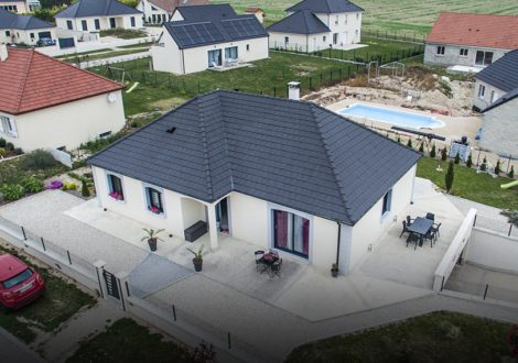 Maison familiale : vue aérienne