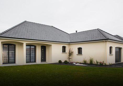 Maison avec plan en L