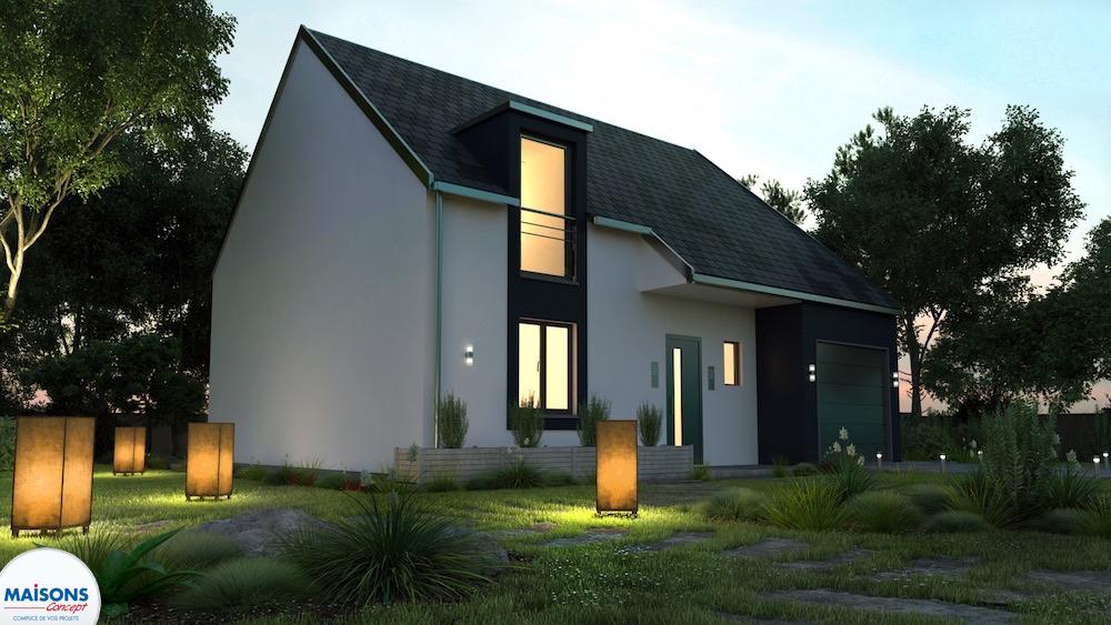 maison traditionnelle à etage Neptune nuit