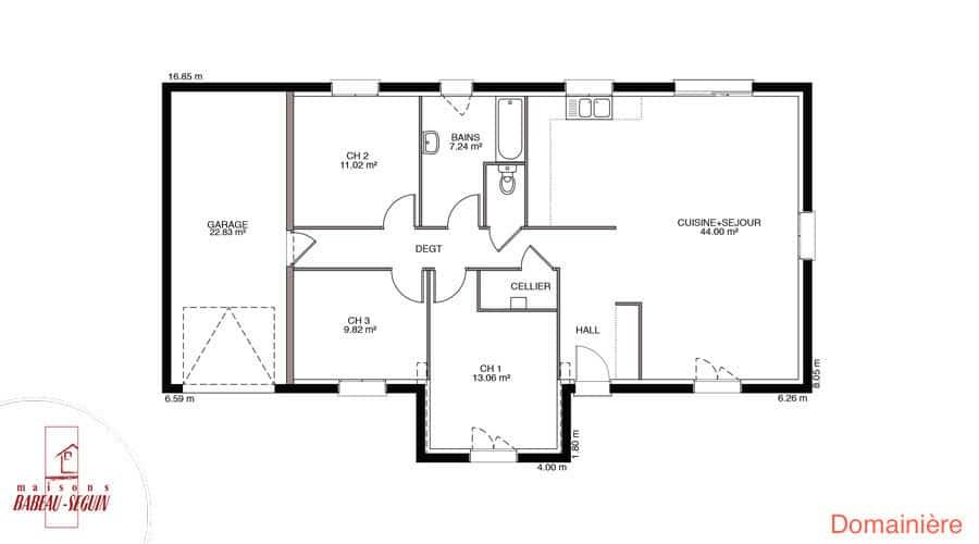 plan maison douanier 100