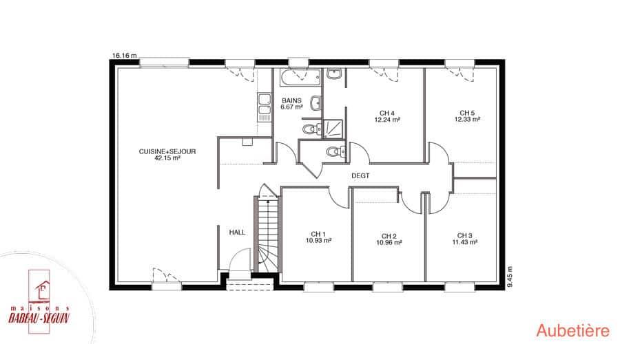 Aubetiere Maison Moderne Plain Pied Pas Cher