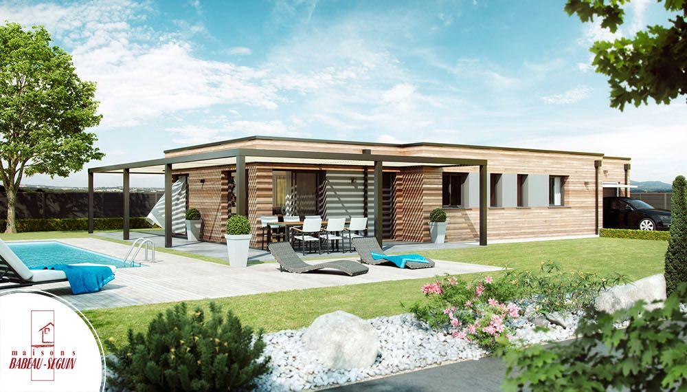 maison architecte pergola en bois