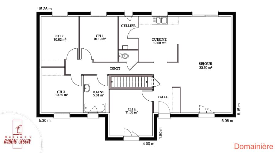 plan maison domainiere 108