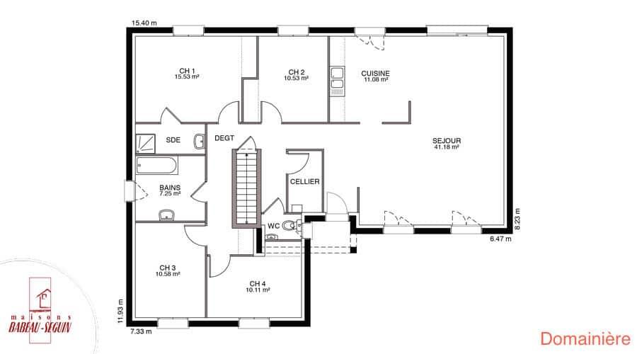 plan maison domainiere 127