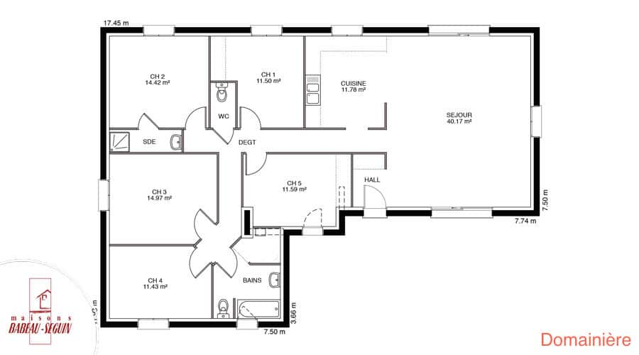 Domaini re model de maison en l for Plan maison babeau seguin