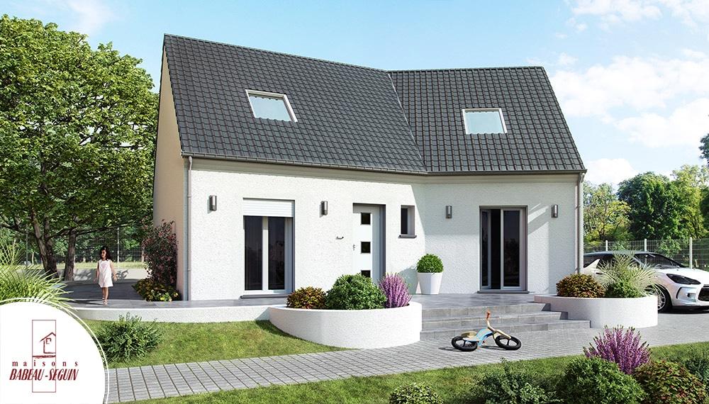 Versiere à étage - model de maison en V