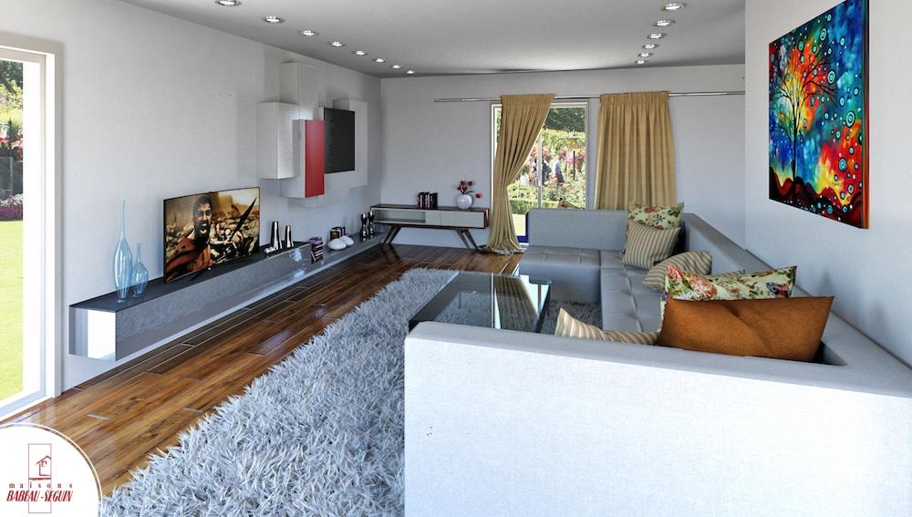 Gentilhommiere interieur maison 3D salon