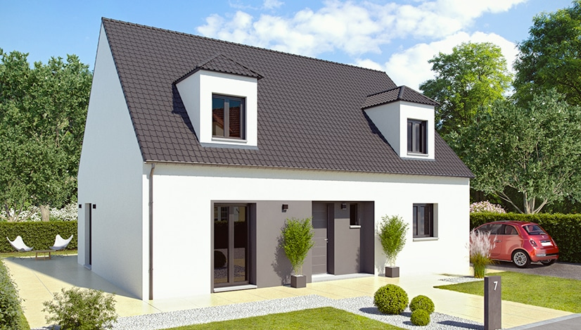 maison a etage au look moderne