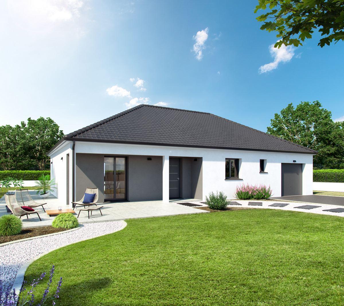 maison traditionnelle avec toiture 4 pans