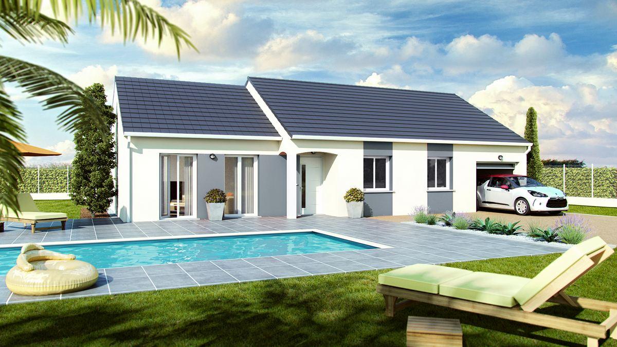 maison petit prix avec toiture decalée
