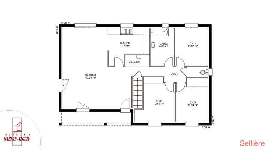 Plan maison selliere 106