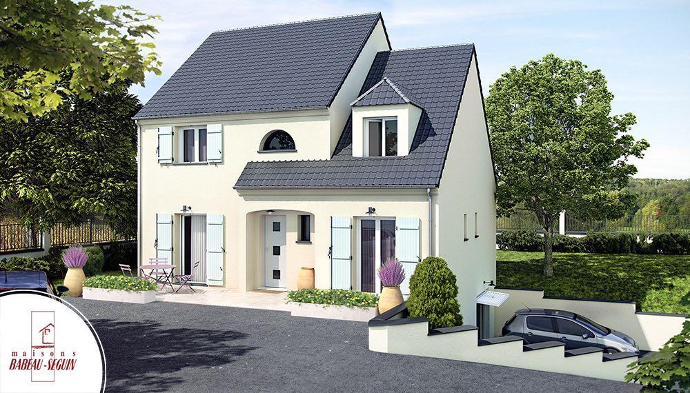 maison a etage 3D