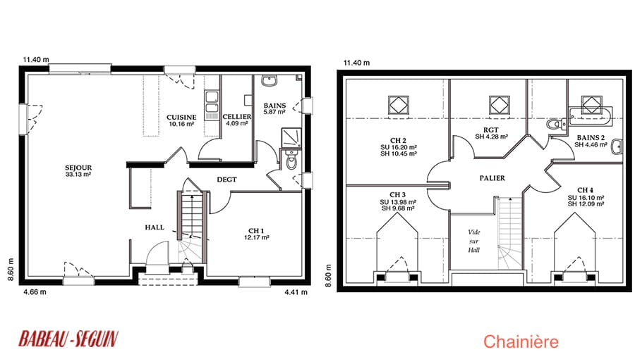 Plan maison 140 m2 great awesome je sais pas si le wc est for Babeau seguin reims