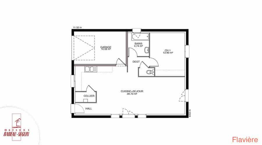 plan maison flaviere 66