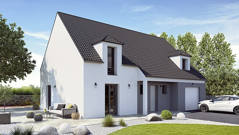 maison à etage au style traditionnel et contemporain