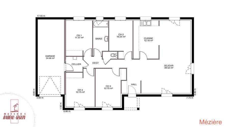 Plan Maison meziere 118