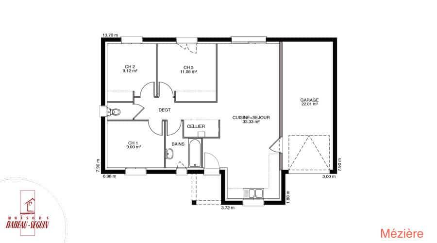 Plan Maison meziere 75