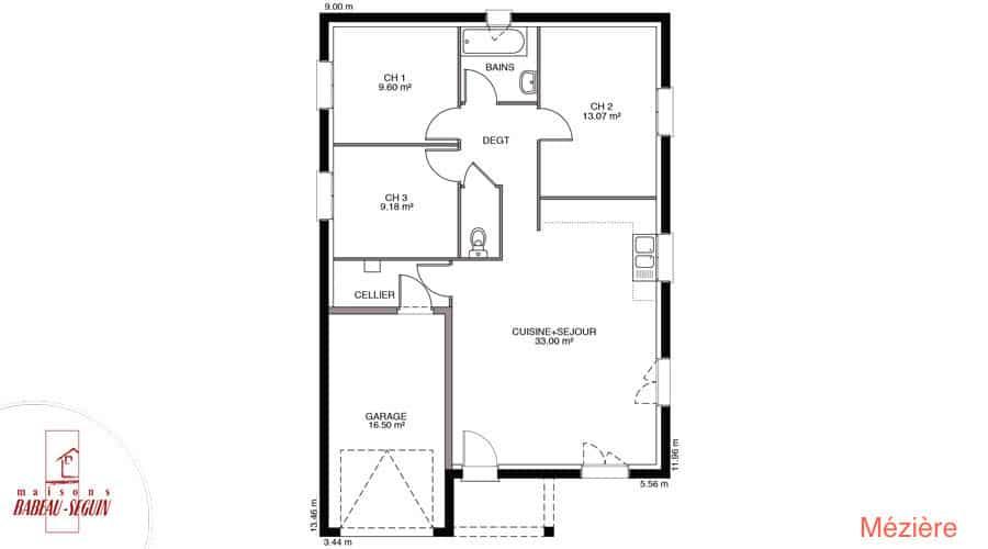 Terrain maison mesgrigny 10 for Plan maison babeau seguin