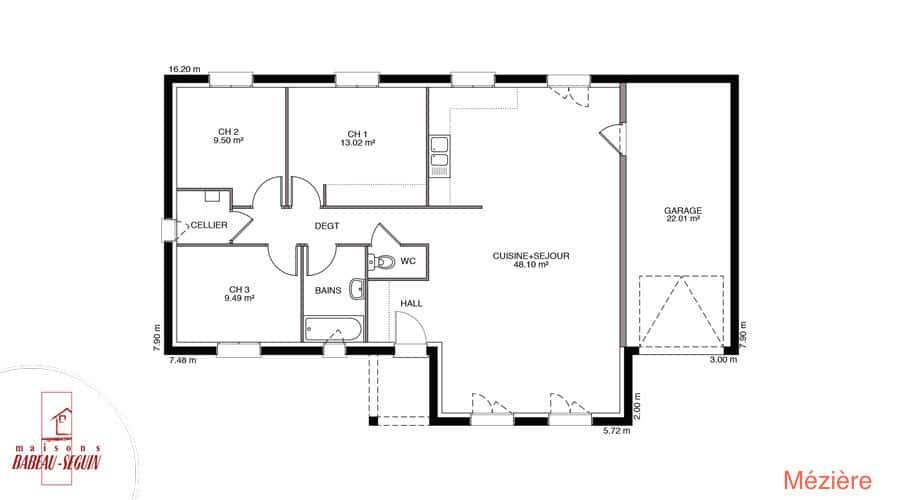 Plan Maison meziere 98