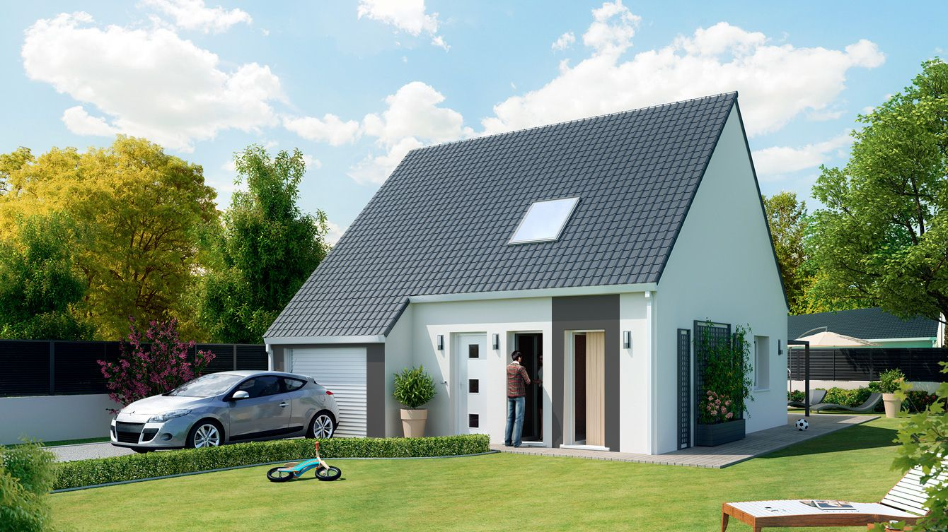 Focus maison personnalis e low cost for Maison monopente contemporaine