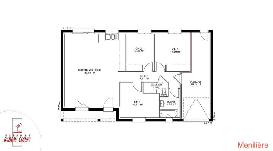 plan maison meniliere 80