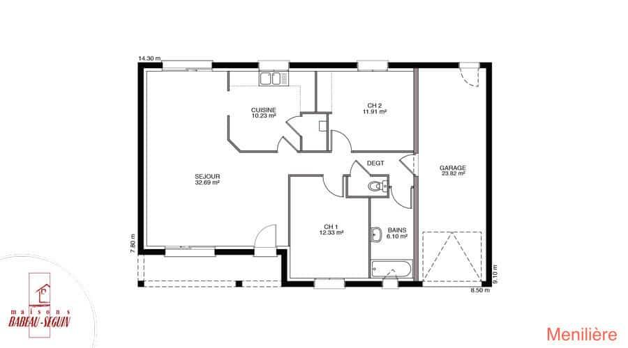plan maison meniliere 81