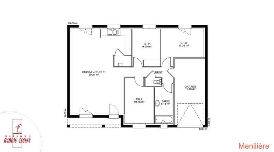 plan maison meniliere 84