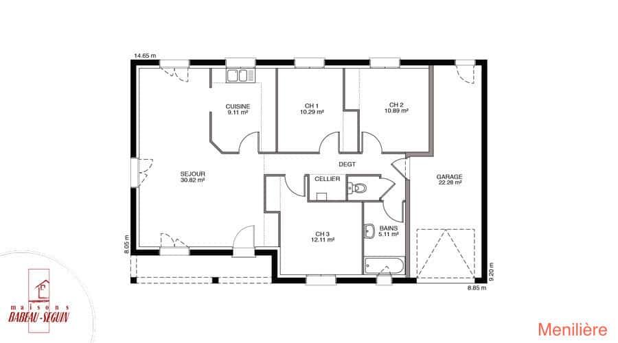 plan maison meniliere 87