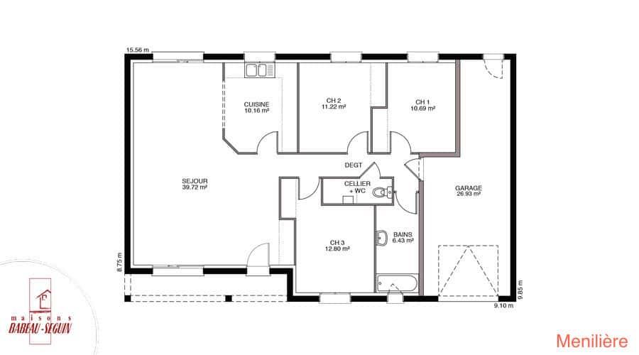 plan maison meniliere 99