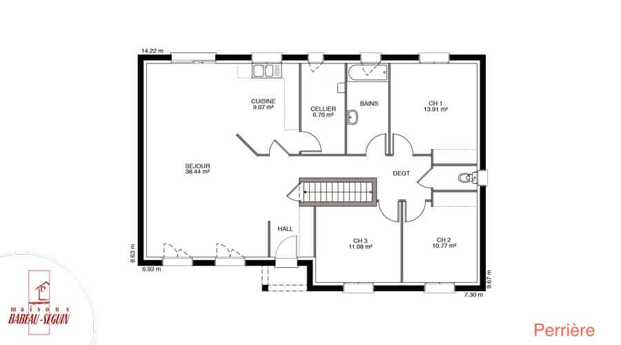 plan maison perriere 108