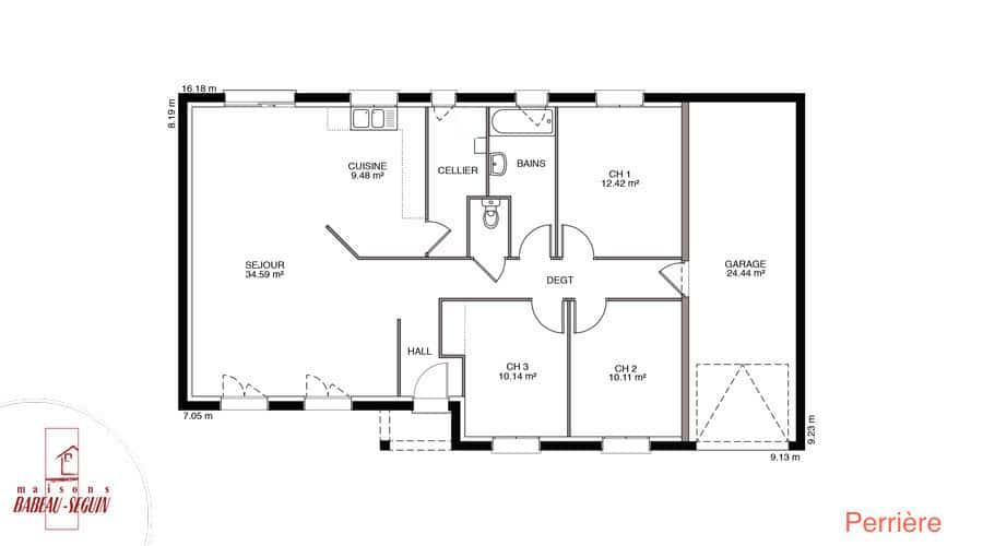 Terrain maison for Plan maison babeau seguin