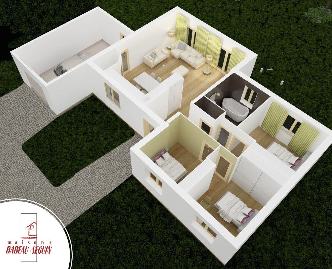 Venus - maison contemporaine toit plat
