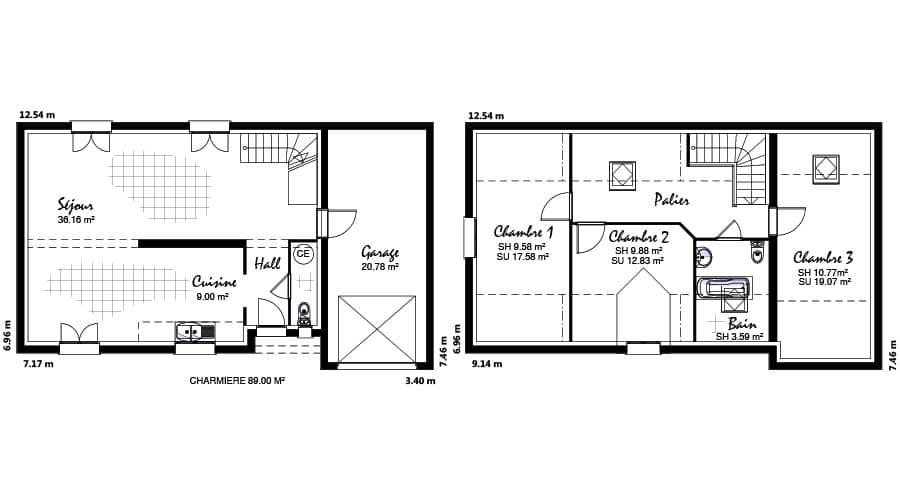 plan maison Charmière 89