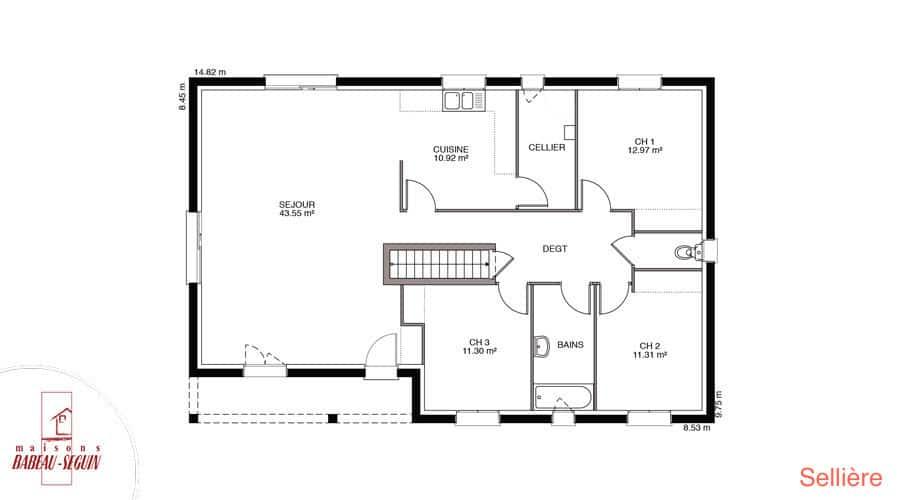 Plan maison selliere 113