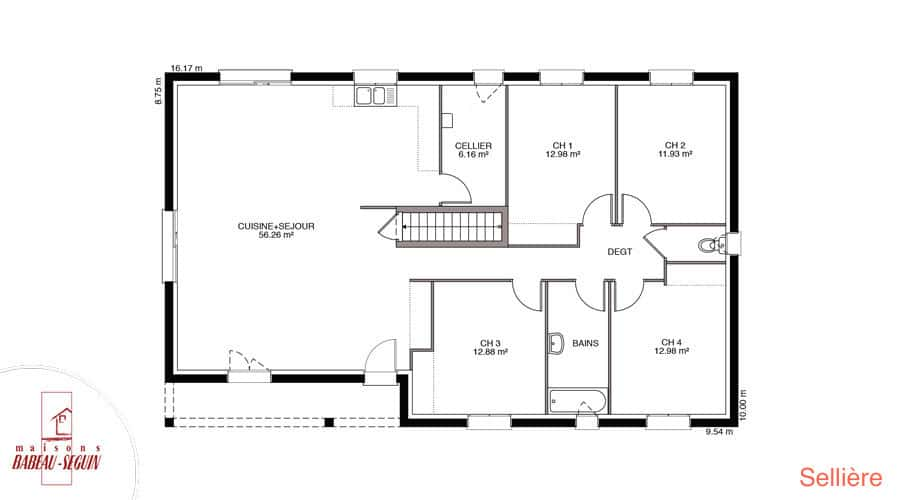 Plan maison selliere 129