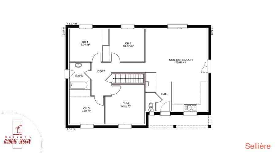 Plan maison selliere 98