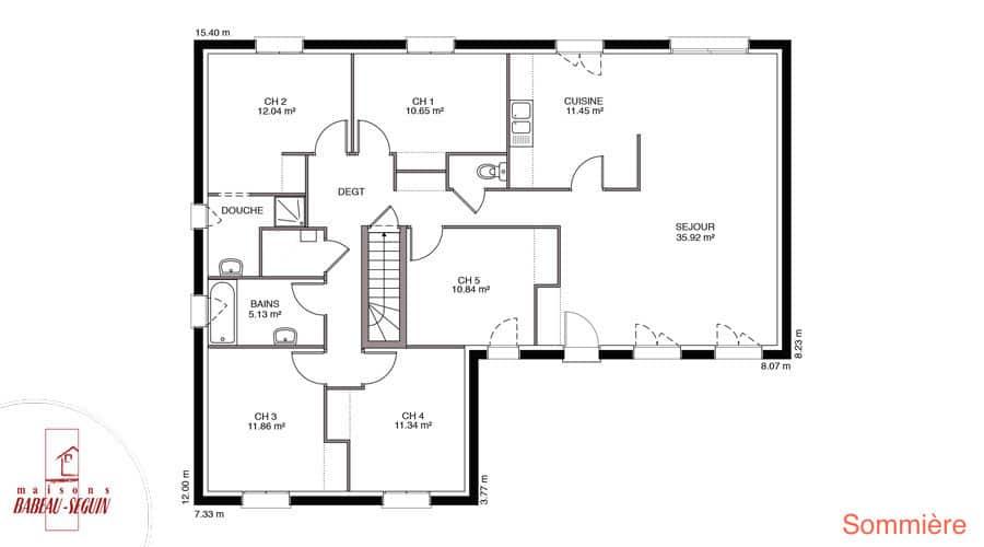 plan de maison babeau seguin