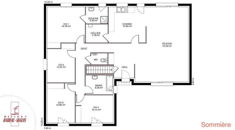 plan maison sommiere 147,5