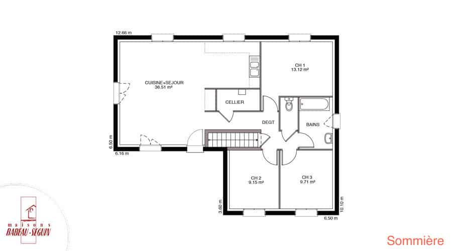 plan maison sommiere 85