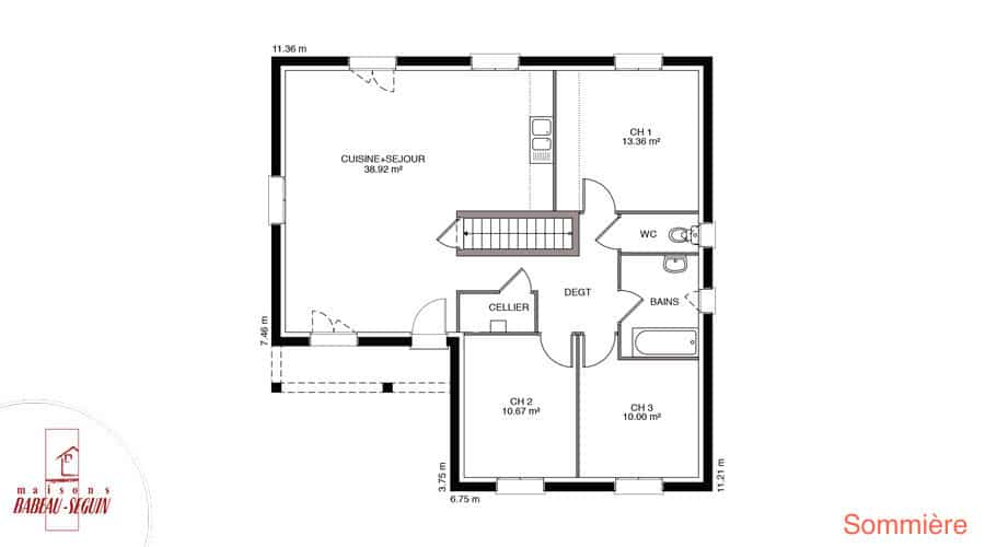 plan maison sommiere 89