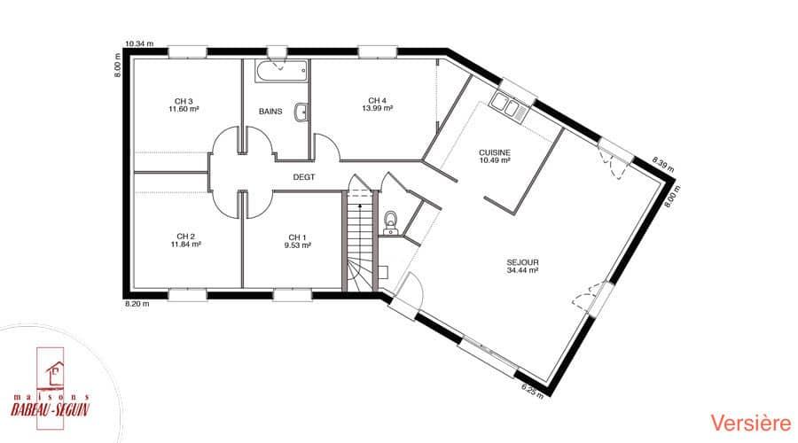 Plan Maison Plain Pied 170m2 Plan De Maison