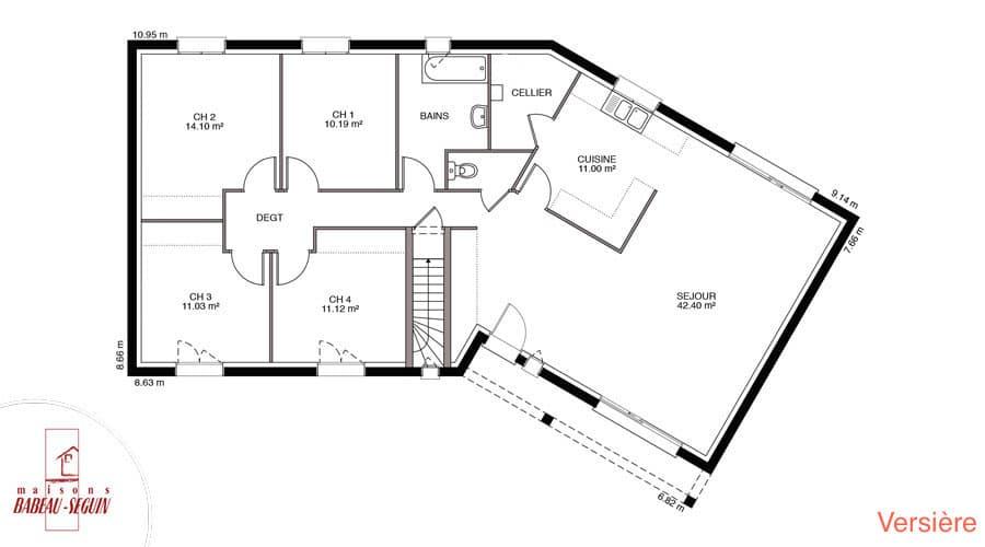 Versiere Maison Avec Plan En V