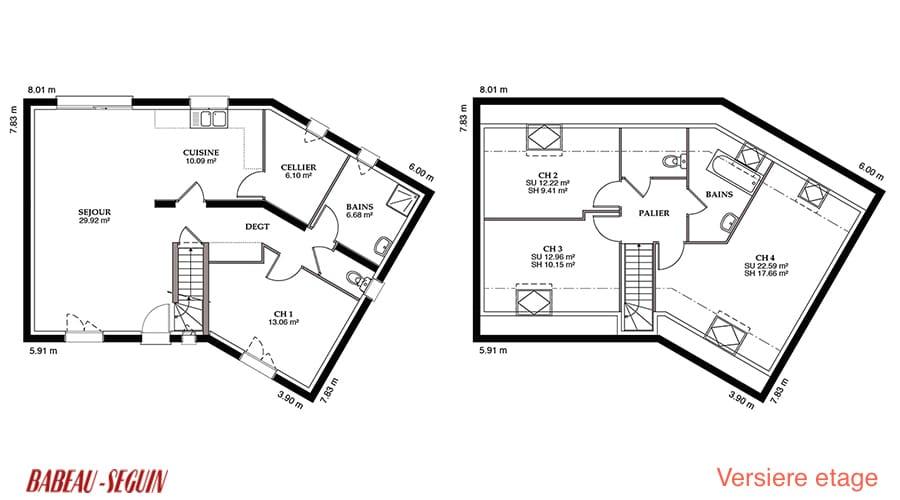 Versiere Maison En V A Etage