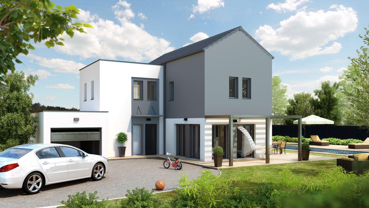 senza maison moderne etage pergola chambre modulaire