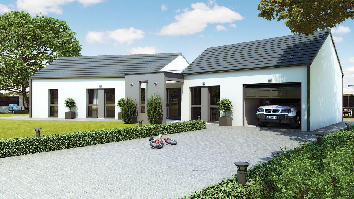 maison contemporaine avec plan en V