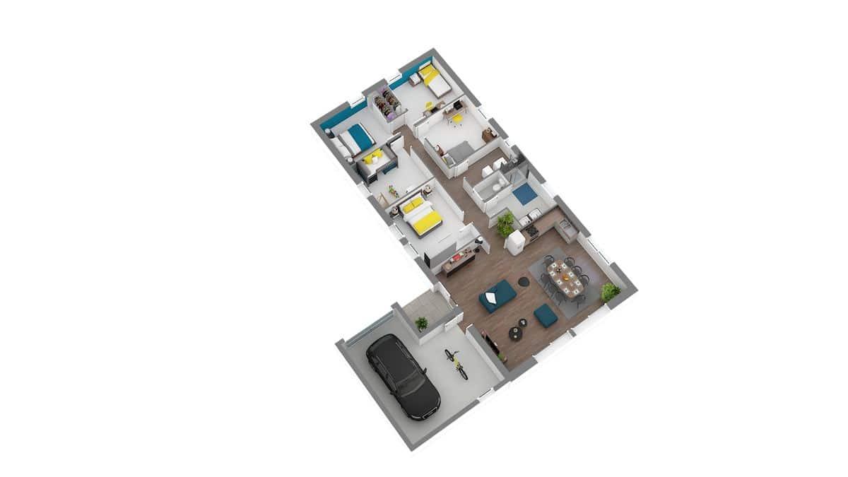 babeau seguin maison moderne en L_atrium_atrium axo