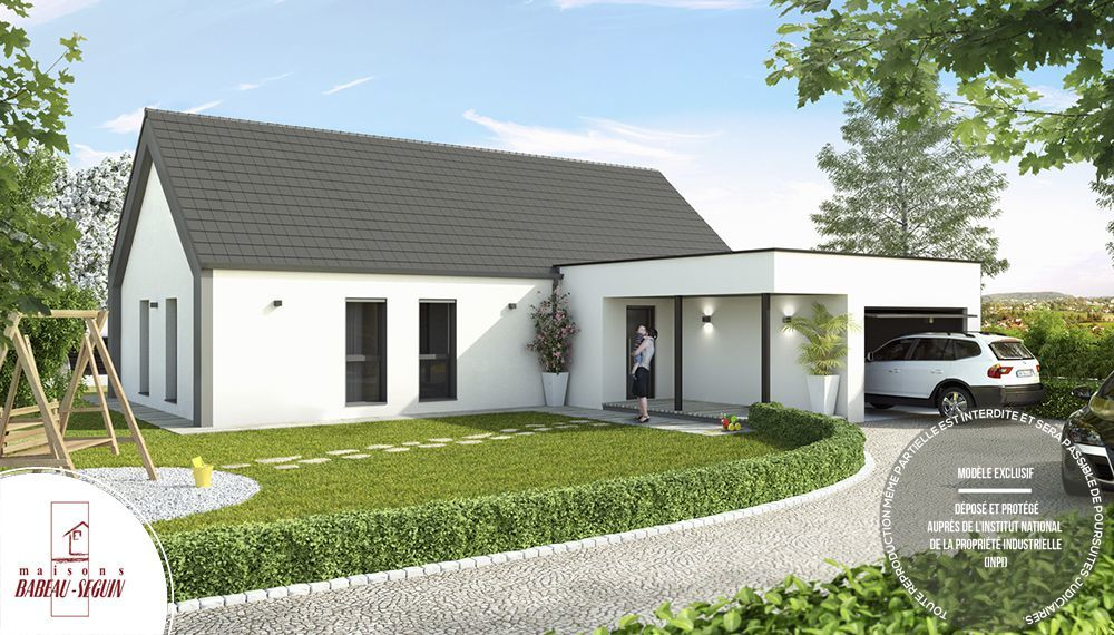 Maison contemporaine atrium architecte - Modele de maison contemporaine plain pied ...